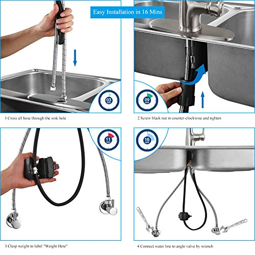 Kitchen-Faucet-Pull-Down-Sprayer-WEWE-A1008L-2017-New-Design-Stainless-Steel-Sink-Faucets-Single-Handle-High-Arc-Brushed-Nickel-Faucet-with-Pull-Out-Sprayer-0-1